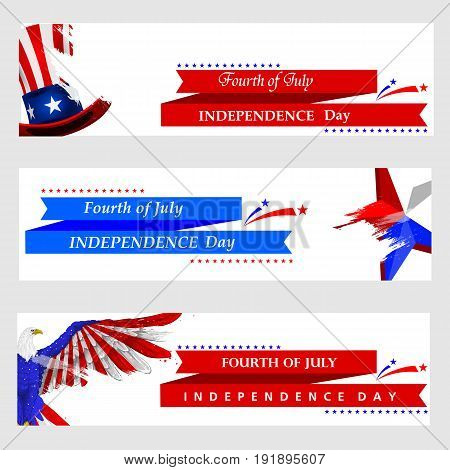 easy to edit vector illustration of 4th July, Independence day of America