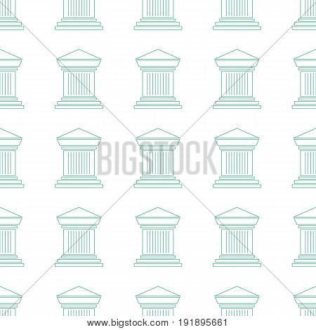 Simple seamless pattern. Vector background with pillars. Can be used for wallpaper, surface texture, scrapbooking, fabric prints. For museum, travel agency, tour brochure, excursion banner.