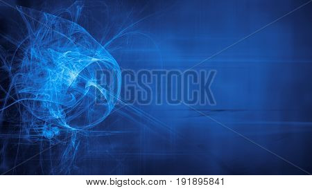 Blue Alien Space Dreams Composite Abstract Background