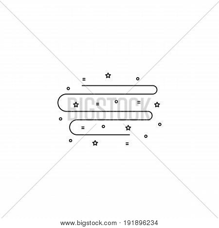 Northern Lights vector thin line icon. Black on white isolated symbol. Logo template, element for brochure, banner. Simple mono linear modern design.
