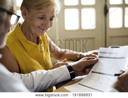 Senior Couple Daily Lifestyle Paper Form
