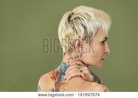 Woman Tattoo Back view