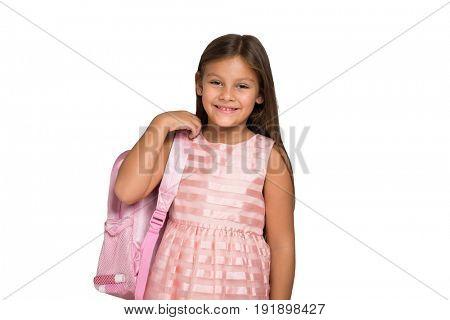 Female child ready for school