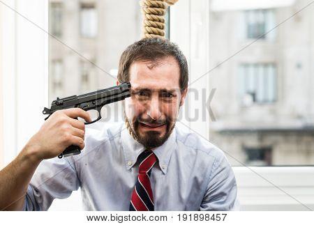 Desperate businessman suicide