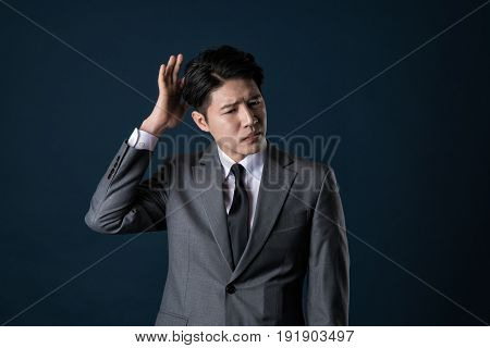Portrait of an Asian business man in a serious situation