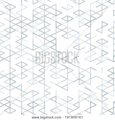 Geometric random lines pattern. Abstract technology background with grey geometric shapes in tessellation on white. Linear abstract lattice random coloring. Vector seamless linear pattern.