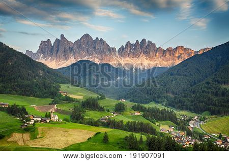 Dolomites alps Mountain in Val di Funes