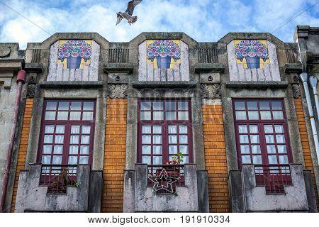 Porto Portugal - December 8 2016: Residential building in Cedofeita district in Porto