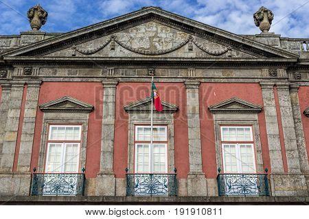 Porto Portugal - December 8 2016: National Museum Soares dos Reis in Porto city