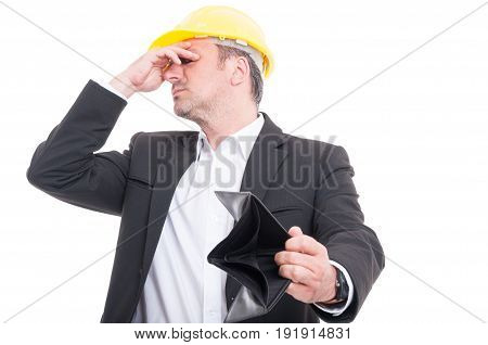 Foreman Not Looking At His Empty Wallet
