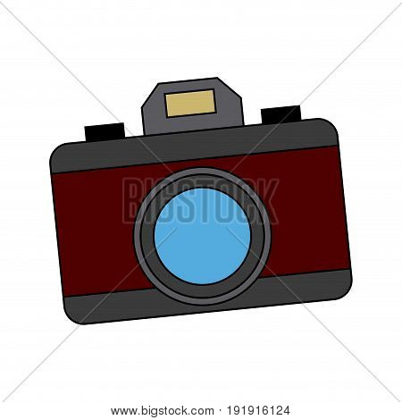 photo camera device picture lens flash icon vector illustration