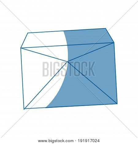 envelope mail empty correspondence communication symbol vector illustration