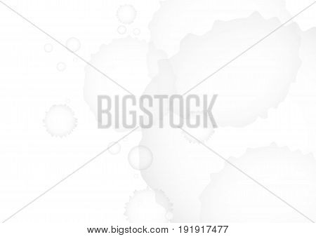 Abstract gray watercolor on white background. vector