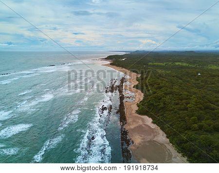 Ocean Waves In Coastline