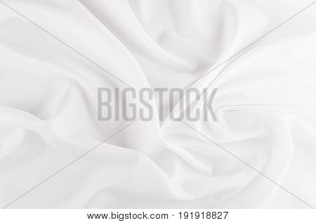 White smooth luxury silk abstract texture with liquid waves.