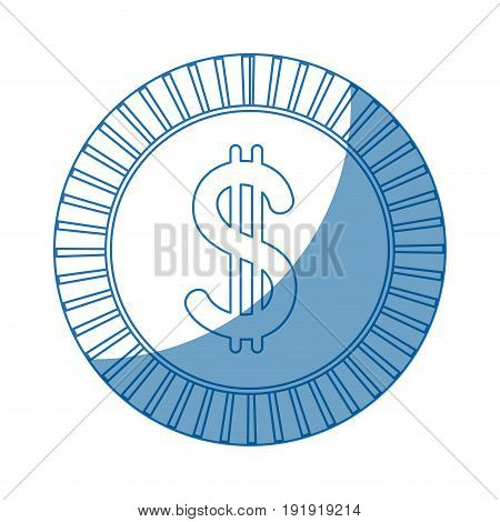 coin dollar currency money cash icon vector illustration
