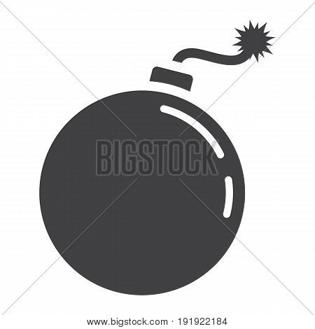 Bomb solid icon, dynamite and danger, vector graphics, a glyph pattern on a white background, eps 10.