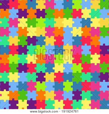 Seamless pattern with colorful puzzles. Mosaic background. Patterns for edible icing sheets for covering cakes.