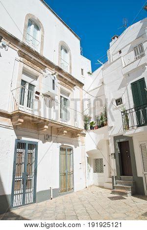 Characteristic alleyway of Martina Franca. Puglia. Italy.