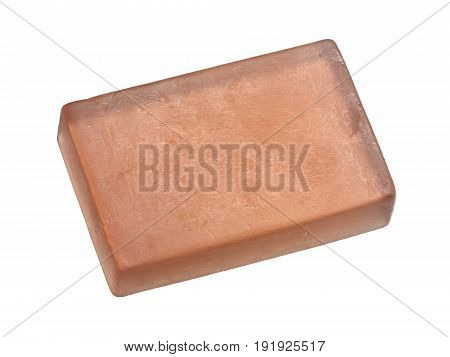 Natural soap isolated on a white background