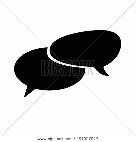 illustration of conversation bubbles chat icons on white background
