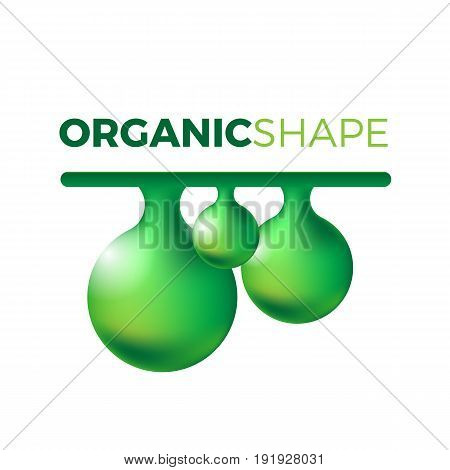 Organic slime vector concept. Liquid shape in realistic style with shadows and highlights. Mucus illustration.