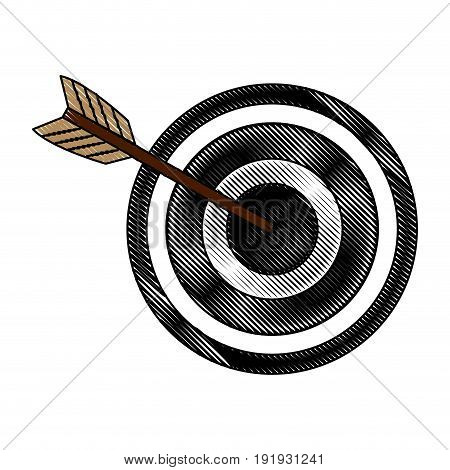 arrow hitting a target business solution concept vector illustration