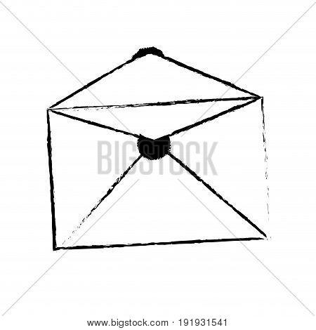 envelope mail empty correspondence communication symbol vector illustration