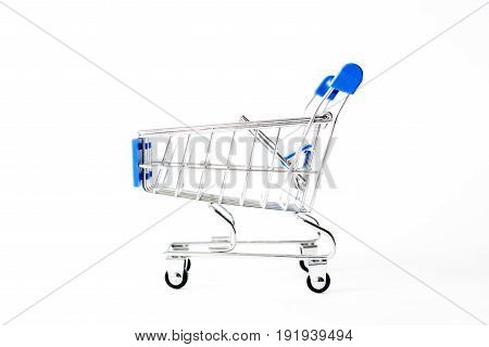 Shopping Cart Basket On White Background