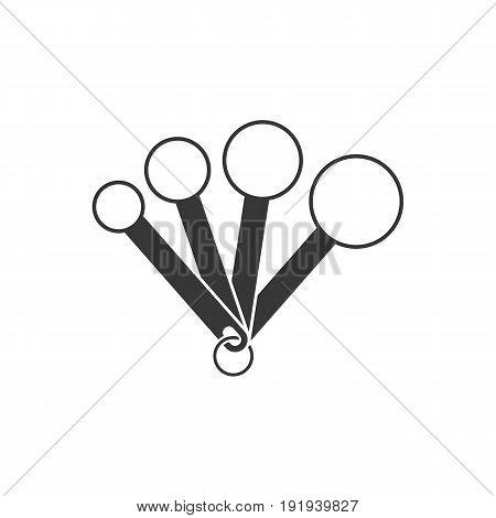 measuring spoon , spoon icon, silhouette design icon