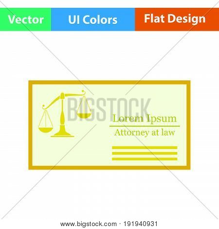 Lawyer Business Card Icon