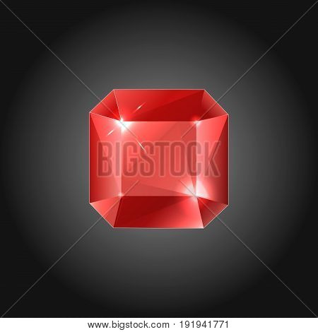 Rubin gem for logo designs or web elements.