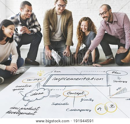 Business people working on a project on banner