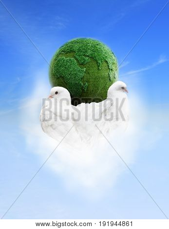 Life on a green planet the earth keeps on love