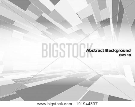 Vector abstract perspective background for creative business design