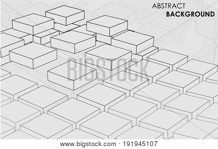 Vector abstract cubes background in 3d space for your creative design