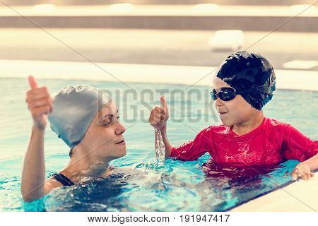 Holding Breath In Swimming Class, Toned Image