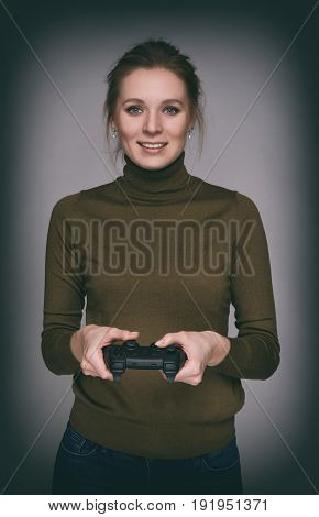 Woman Play Computer Game