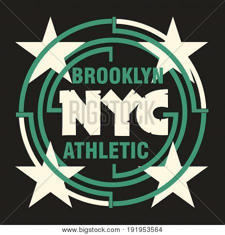 t-shirt New York Brooklyn Sport wear typography emblem apparel design