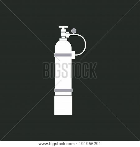 icon oxygen cylinders flat design realistic image