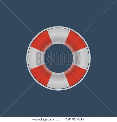 Lifebuoy lifebelt icon on the dark background. Vector design