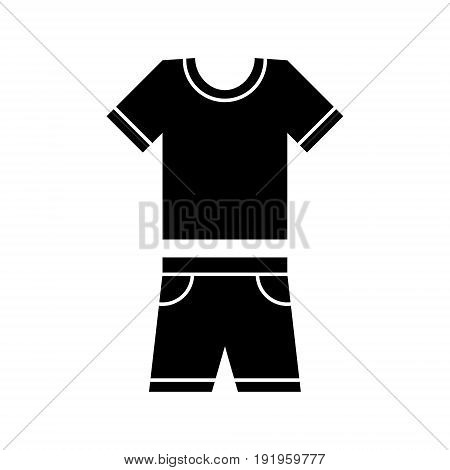 T-shirt and shorts vector icon wear symbol. Modern simple flat vector illustration.