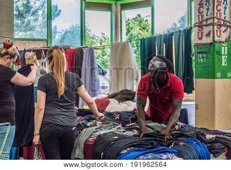 Eskisehir, Turkey - June 15, 2017: People At Traditional Typical Turkish Bazaar In Eskisehir, Turkey