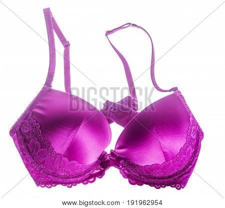 Pink Silk Bra