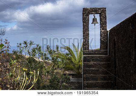 Bell Tower Of A Church In El Golfo Valley El Hierro