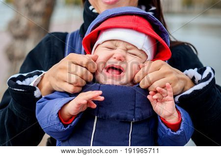 Little Baby Crying In The Park