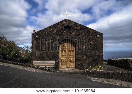 Church From Lava Stones In El Golfo