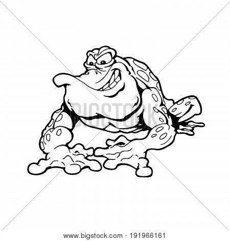 frog . Animal cartoon character . Vector Illustration.