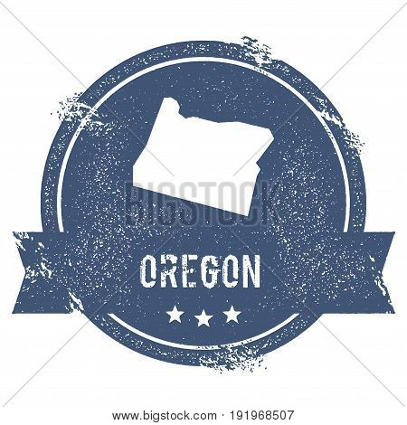 Oregon Mark. Travel Rubber Stamp With The Name And Map Of Oregon, Vector Illustration. Can Be Used A