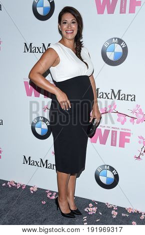 LOS ANGELES - JUN 13:  Angelique Cabral arrives for the Lucy Crystal Awards 2017 on June 13, 2017 in Beverly Hills, CA